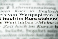 German dictionary, close-up