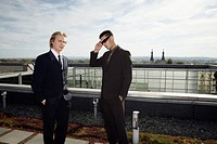 Businessmen on a Terrace