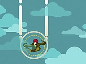 Skydiver in mid-air
