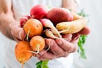 Man holding vegetables