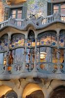 Batlló House, (Gaudí, 1904-1906) at the Passeig de Gràcia. Barcelona. Spain