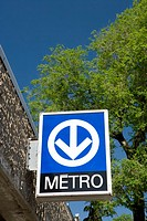 Sign Outside of Lionel Groulx subway station Montreal