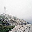 Lighthouse In Fog, Peggy´s Cove, Nova Scotia