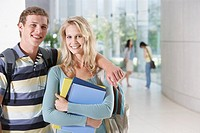 Young Woman and man at school
