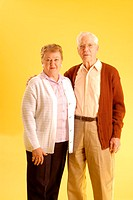 Senior couple posing, Canada, Saskatchewan, Regina