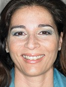 Close up portrait of woman smiling, Alicante, Spain,