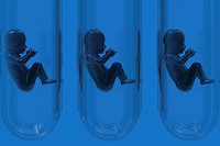 Conceptual illustration of test tube babies