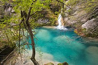 Urederra river, near its source. Baquedano. Navarra. Spain