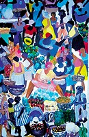 Jamaica, Port Antonio, local naive painting