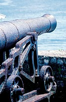 Jamaica, Port Antonio, fortress, old gun (thumbnail)