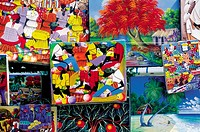Domenican Republic, Santo Domingo, naive paintings for sale