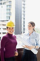 Women at a construction site (thumbnail)