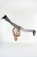 Man doing a cartwheel