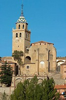 Cathedral, Albarracin. Teruel province, Aragon, Spain