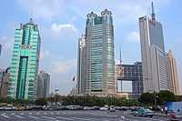 Commercial buildings at Pudong, Shanghai