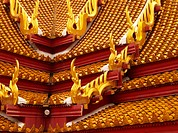 Thai roof design in Bangkok, Thailand