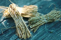 Bundles of dried stems