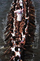 Nehru Boat Race Festivals , Snake Boat Race , jalostavam for Haripad Subramanya Temple , alappuzha Alleppey , Kerala , india 11 August 2001