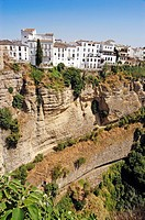 Houses on the ´tajo´ edge, Ronda. Malaga province, Andalucia, Spain