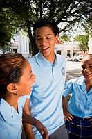 Group of children wearing school uniform