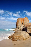 Granite boulders on remote Shelly Beach, Walpole Nornalup National Park, Western Australia