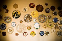 Decorative objects mounted on a wall