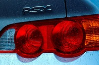 RSX tail lights after a car wash