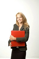 Businesswoman holding a file