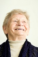 Happy senior woman smiling