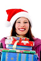 Happy woman with her presents
