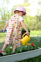 Girl watering plants (thumbnail)