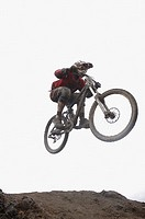 Mountain Biker Jumping