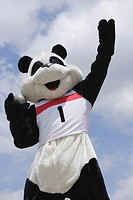 Panda Throwing a Shot Put