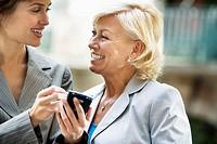 Businesswoman Using PDA