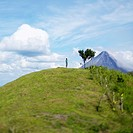 Person Standing on a Hill