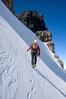 Ice climbing on Mount Ruapehu, Mountaineering. New Zealand
