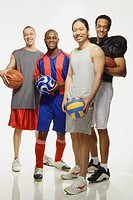 Group of multi-ethnic male athletes