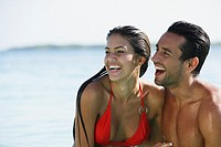 South American couple laughing