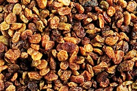 Raisins, close-up