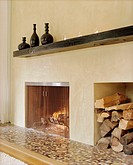 Fireplace with Niche for Firewood