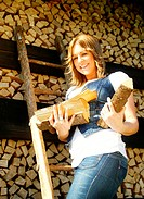 Tanja collects firewood