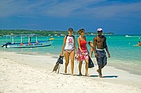 Strolling on Negril beach, Jamaica
