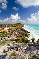 Tulum Archeological site, Tulum, Mexico