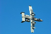 An A-10 Thunderbolt II from Barksdale Air Force Base, La., approaches a target on May 16, 2006, called in by a joint terminal air controller during ur...