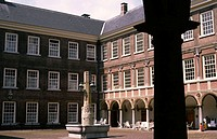 Patio of Royal Military Academy Castle, Breda, Netherlands