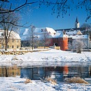 Germany, Bavaria, Cham, town view in winter