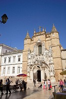 Portugal, Beira Litoral, Coimbra, Santa Cruz church and monastery