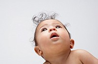 A baby boy looking up (thumbnail)
