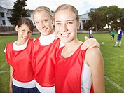 Kids in school gym uniforms