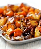 Platter of caramelised baked vegetables 1